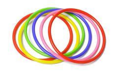 multicolor plastic bangles - stock photo