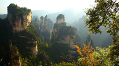Avatar mountains. Zhangjiajie park, China Stock Footage