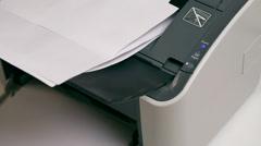 Laser Printer Stock Footage