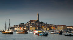 A view of Rovinj, Croatia - stock footage