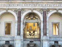 Acqua paola fountain in rome Stock Photos