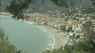 Stock Video Footage of Seaview of the Riviera