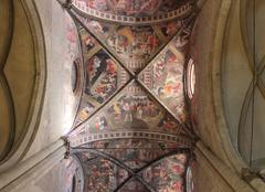 Decorated ceiling in arezzo Stock Photos