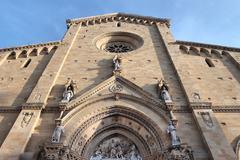 arezzo cathedral - stock photo