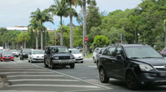 Traffic in downtown noumea, new caledonia Stock Footage