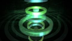 VJ Loop - Spheres flying and bouncing fast through 3D rings Stock Footage