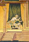 Stock Photo of murals in wat phra kaew,bangkok,thailand.