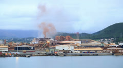doniambo nickel smelter plant, noumea, new caledonia - stock footage