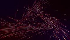 VJ Loop - Stream of multi colored lasers spray from triangular formation Stock Footage
