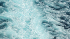 Wave and water turbulence of ship at sea Stock Footage