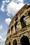 Fragment of coliseum in rome, italy. Stock Photos