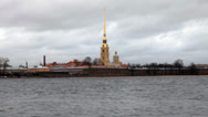 Stock Video Footage of View of the Peter and Paul Fortress