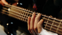 Bass player Stock Footage