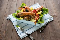 lobster salad - stock photo