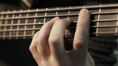Musician playing five string Electric bass  Stock Footage