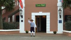 St George Bermuda Town Crier Stock Footage