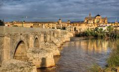roman bridge of cordoba - stock photo