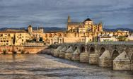 Stock Photo of roman bridge of cordoba