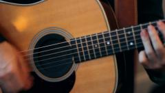 Acoustic Guitar CU - stock footage