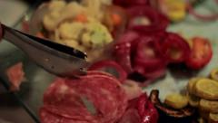 Salami Appetizer Stock Footage