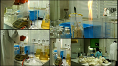 Stock Video Footage of Laboratory analyzing medicine veterinary  , multiscreen