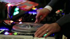 Stock Video Footage of DJ Mixing Closeup