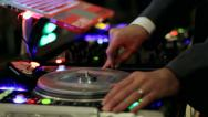 Stock Video Footage of DJ Mixing Closeup