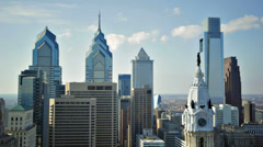 Philadelphia Skyline Stock Footage