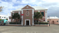 St George Bermuda Town Hall Stock Footage