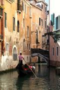 Gondola ride Venice, Italy - stock photo