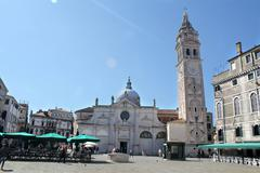 The Chiesa di San Zaccaria and Bell Tower, Venice, Italy - stock photo