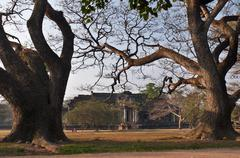 morning in angkor temple complex. cambodia - stock photo