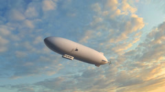 Zeppelin Airship fly over Stock Footage