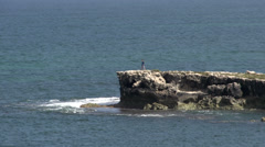 Rocks at the bay near the town Cervantes, Western Australia - stock footage