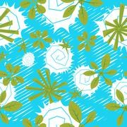 Seamless pattern - stock illustration