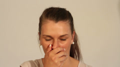 Coughing fit Stock Footage