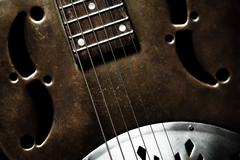 Vintage guitar Stock Photos