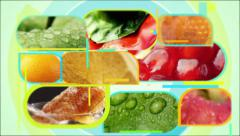 Food Montage Intro Videowall Seamless Loop Stock Footage