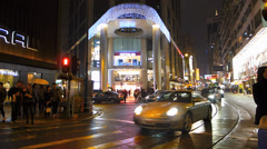 Time Lapse  Hong Kong Causeway Bay Lee Theatre shopping mall China Asia Stock Footage