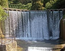 Waterfall in the city of new athos ( abkhazia) Stock Photos