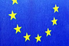 e.u. flag - stock photo