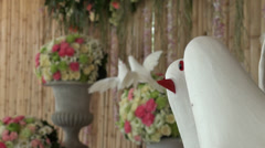Wedding arrangements clip 1 of 4 Stock Footage