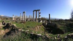 Ancient city of Afrodisias Stock Footage