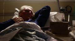 Patient recuperating after hip operation Stock Footage