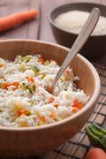 Basmati rice with veggies Stock Photos