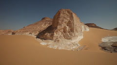 Panoramic view of Agabat, White Desert, Egypt Stock Footage
