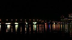 Stock Video Footage of Causeway Bridge at Night