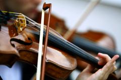 playing viola - stock photo