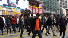 Nathan RD urban street. HONG KONG, CHINA Stock Footage