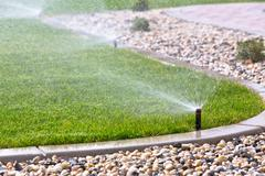Automatic sprinklers - stock photo
